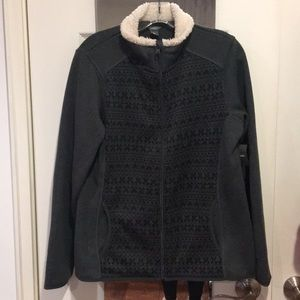 Cozy Gray & Black Zippered Sweater